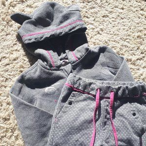 Europe Hoodie and joggers grey baby girl size 18M